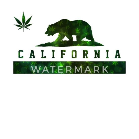 California Republic Marijuana Bear Designs Unisex Crewneck