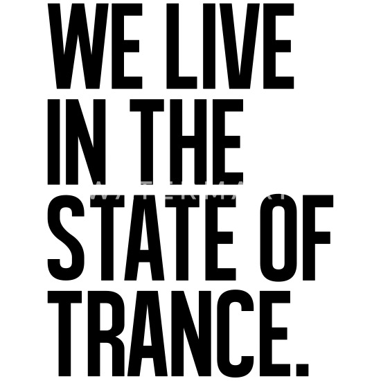 We Live In The State Of Trance (classic) Men's V-Neck T