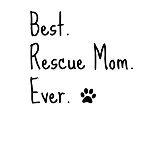 Animal Rescue Quote Cat Dog Best Mom Ever Paw Men\'s V-Neck T ...