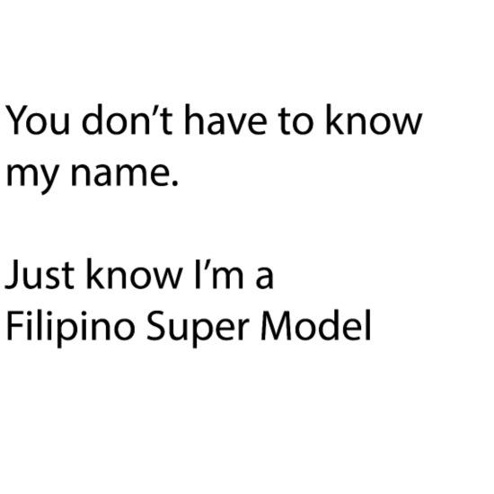 Just know Im a Filipino Super Model Men's V-Neck T-Shirt