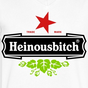 Heinousbitch - Men's V-Neck T-Shirt by Canvas