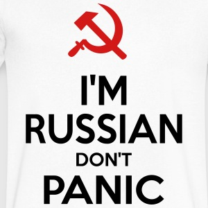 I M RUSSIAN DONT PANIC CCCP - Men's V-Neck T-Shirt by Canvas