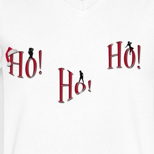 ho-ho-ho Naughty Christmas shirt - Men's V-Neck T-Shirt by Canvas