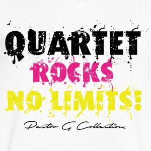 Pastor G Quartet Rock Yellow Blk - Men's V-Neck T-Shirt by Canvas