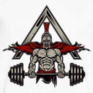 Spartan Weight Lifter - Perfect Gift For Gym Rats - Men's V-Neck T-Shirt by Canvas
