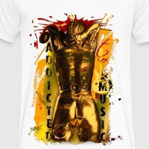 Addicted to Music - Men's V-Neck T-Shirt by Canvas