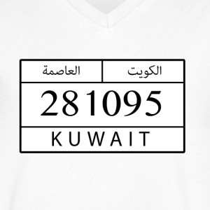 plate kuwait - Men's V-Neck T-Shirt by Canvas