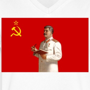 Stalin - Men's V-Neck T-Shirt by Canvas