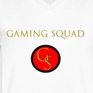 Channel Logo with Gaming Squad text - Men's V-Neck T-Shirt by Canvas