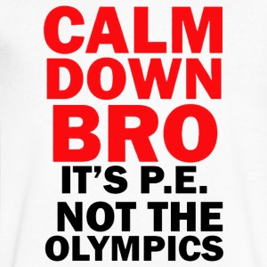 CALM DOWN BRO - Men's V-Neck T-Shirt by Canvas