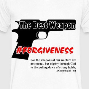 Forgive - Men's V-Neck T-Shirt by Canvas
