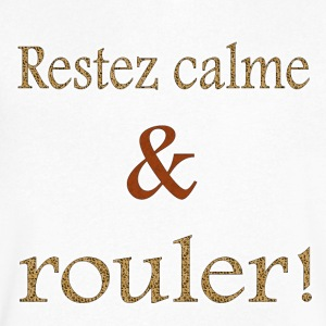Restez calme et rouler! - Men's V-Neck T-Shirt by Canvas