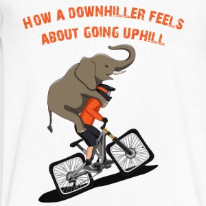 Downhill Biker Going Uphill - Men's V-Neck T-Shirt by Canvas
