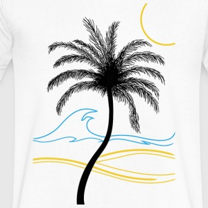 palm - Men's V-Neck T-Shirt by Canvas