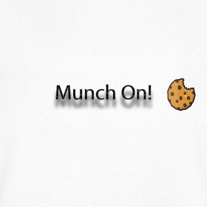 munch on - Men's V-Neck T-Shirt by Canvas