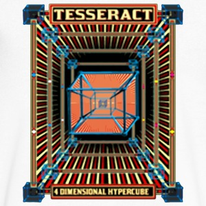 tesseract - Men's V-Neck T-Shirt by Canvas