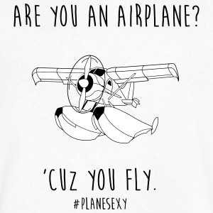 Are You an Airplane? (Black & White) - Men's V-Neck T-Shirt by Canvas