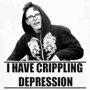 I Have Crippling Depression - Men's V-Neck T-Shirt by Canvas
