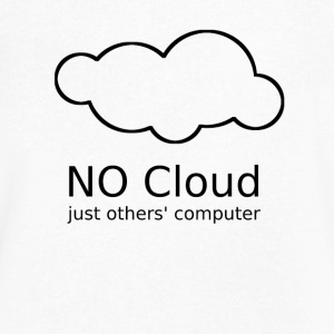No Cloud - just others' computer - Men's V-Neck T-Shirt by Canvas