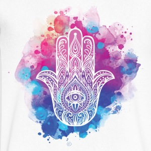 Hamsa Hand of Fatima - Men's V-Neck T-Shirt by Canvas