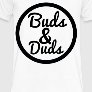 Logo buds & Duds - Men's V-Neck T-Shirt by Canvas