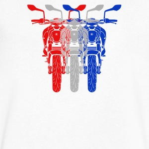 three overlapping superbikes - Men's V-Neck T-Shirt by Canvas