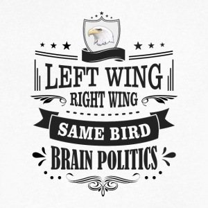 Left Wing Right Wing Same Bird - Men's V-Neck T-Shirt by Canvas