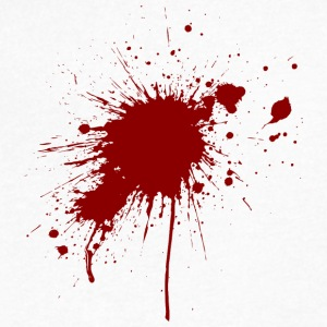 Blood Spatter From A Bullet Wound - Men's V-Neck T-Shirt by Canvas
