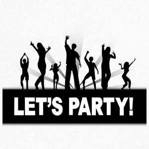 let's party - Men's V-Neck T-Shirt by Canvas