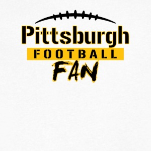 Pittsburgh Football Fan - Men's V-Neck T-Shirt by Canvas