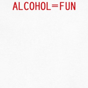 Alcohol Fun - Men's V-Neck T-Shirt by Canvas