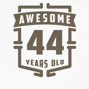 Awesome 44 Years Old - Men's V-Neck T-Shirt by Canvas