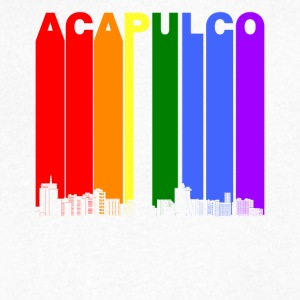 Acapulco Mexico Skyline Rainbow LGBT Gay Pride - Men's V-Neck T-Shirt by Canvas