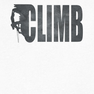 Rock Climbing T Shirt - Men's V-Neck T-Shirt by Canvas