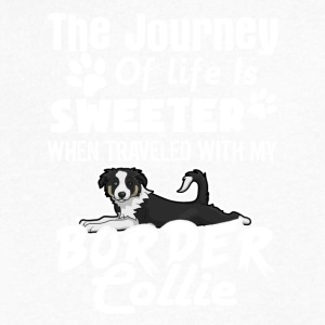 SWEETER BORDER COLLIE TEE SHIRT - Men's V-Neck T-Shirt by Canvas