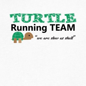 Turtle Running Team we are slow as shell Tee Shirt - Men's V-Neck T-Shirt by Canvas