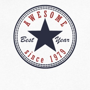 38th Birthday Awesome since T Shirt Made in 1979 - Men's V-Neck T-Shirt by Canvas