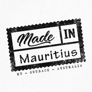 Stamp Made In Mauritius - Northern Territory - Men's V-Neck T-Shirt by Canvas