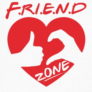 Friendzone - Men's V-Neck T-Shirt by Canvas
