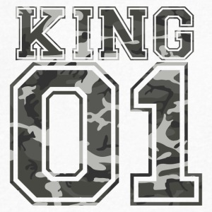 King_01_camo_1 - Men's V-Neck T-Shirt by Canvas