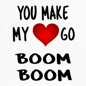 you make my heart go boom boom - Men's V-Neck T-Shirt by Canvas