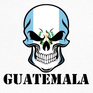 Guatemalan Flag Skull Guatemala - Men's V-Neck T-Shirt by Canvas