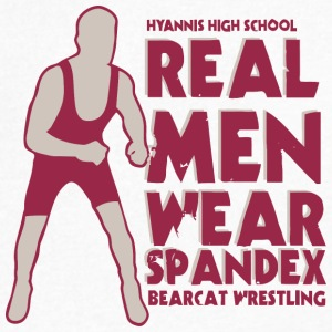 HYANNIS HIGH SCHOOL BEARCAT WRESTLING - Men's V-Neck T-Shirt by Canvas