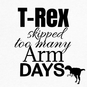 T-Rex and arm days - Men's V-Neck T-Shirt by Canvas