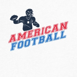 american football - Men's V-Neck T-Shirt by Canvas