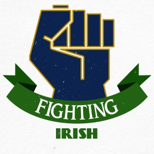 Fighting Irish - Men's V-Neck T-Shirt by Canvas