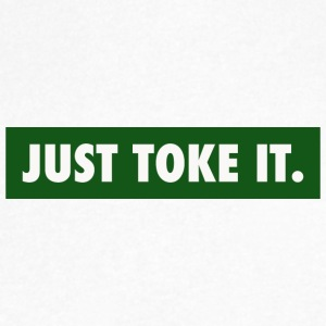JUST TOKE IT - Men's V-Neck T-Shirt by Canvas