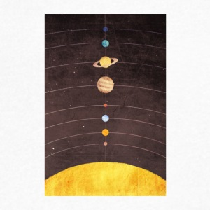 Solar System - Men's V-Neck T-Shirt by Canvas