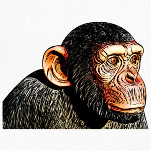 chimpanzee monkey animal ape - Men's V-Neck T-Shirt by Canvas