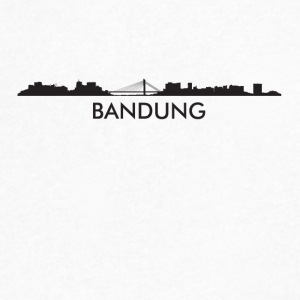 Bandung Indonesia Skyline - Men's V-Neck T-Shirt by Canvas